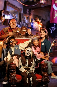 Family at Disney Pirate League