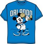 Disney World Orlando Magic Tee Shirt Blue