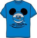 Disney World NBA Finals Mouse Ears Tee Shirt Blue