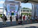 Stitch at Disney Magic Kingdom Crowd