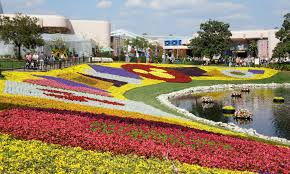 Disney Epcotb Bedding garden